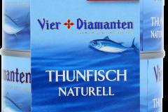 Vier Diamant Thunfisch Naturell  2x195g Towerpack